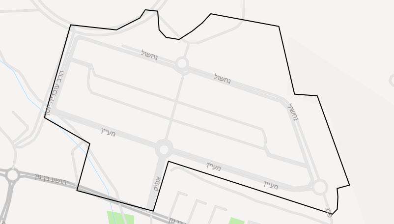 מפת שכונת נצבא